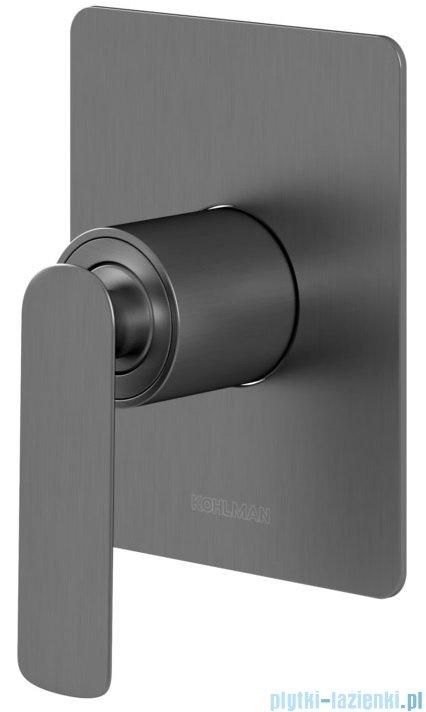Kohlman Experience gray podtynkowa bateria wannowa szczotkowany grafit