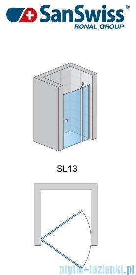 SanSwiss Swing Line SL13 Drzwi prysznicowe 80-120cm profil srebrny SL13SM10107