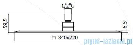 Paffoni  Deszczownica prostokątna 34x22 cm BLANC ZSOF102CR