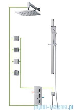 Omnires Fresh kompletny łazienkowy system podtynkowy termostatyczny