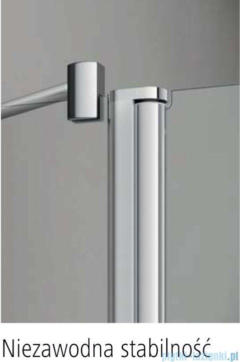 Kermi Pega drzwi wahadłowe 1-skrzydłowe 75 cm prawe przejrzyste PE1WR07520VPK