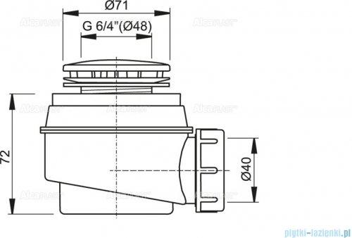 Alcaplast  syfon brodzikowy Ø52 korek biały A47B-50