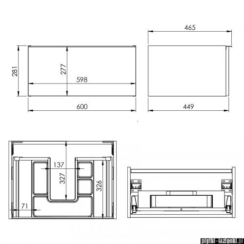 Elita Look szafka podumywalkowa 60x28x45cm biały mat 167590