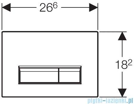 Geberit Sigma40 przycisk spłukujący do WC z odciągiem biały 115.600.KQ.1