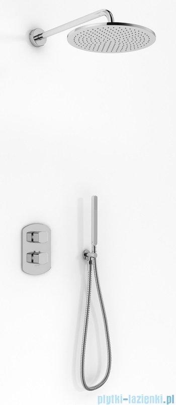 Kohlman Foxal zestaw prysznicowy z baterią termostatyczną chrom