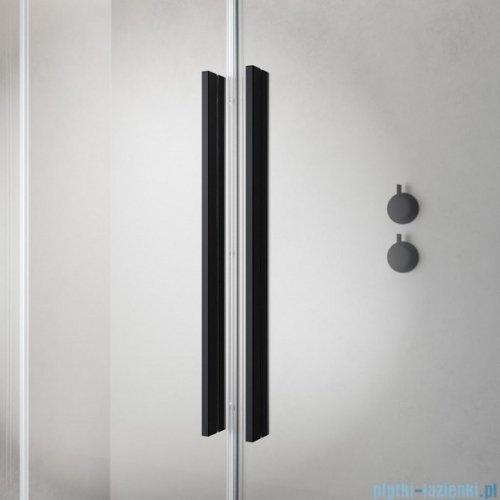 Radaway Furo Black PND II parawan nawannowy 120cm lewy szkło przejrzyste 10109638-54-01L/10112594-01-01
