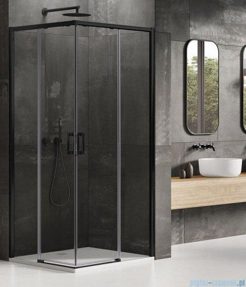 New Trendy Prime Black kabina prostokątna 120x80x200 cm przejrzyste D-0320A/D-0313A