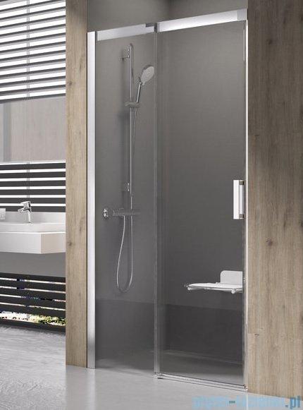 Ravak Matrix MSD2 drzwi prysznicowe 110cm lewe satyna transparent 0WLD0U00Z1