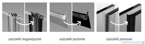 Radaway Furo Black KDD kabina 80x100cm szkło przejrzyste 10105080-54-01L/10105100-54-01R