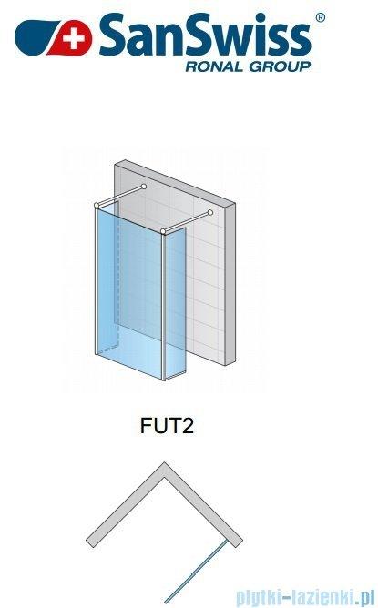 SanSwiss Fun Fut2 kabina Walk-in 120cm profil połysk FUT212005007