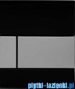 Przycisk do pisuaru Tece Square szkło czarne, przycisk chrom połysk 9.242.807