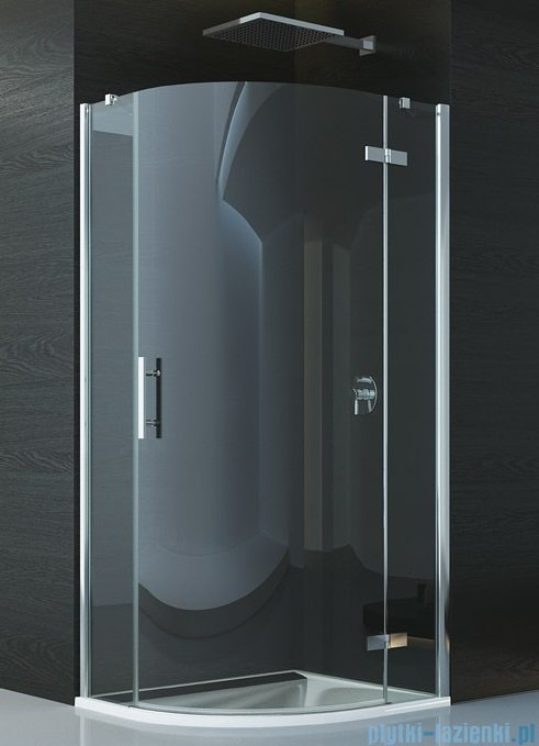 SanSwiss Pur P3P Kabina półokrągła 90cm profil chrom szkło przezroczyste Prawa P3PD500901007