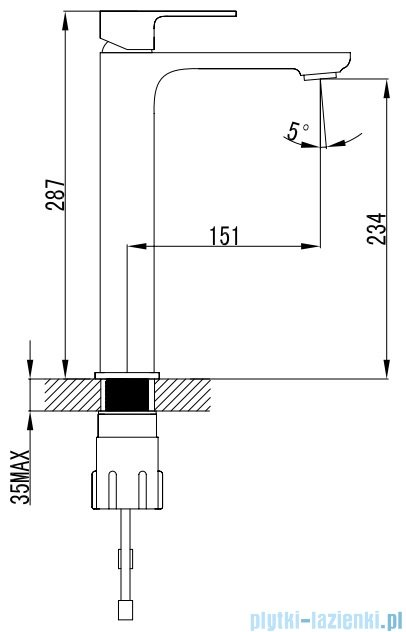 Omnires Apure bateria umywalkowa sztorcowa chrom/biel AP2212CRB