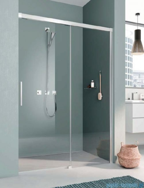 Kermi Nica drzwi przesuwne 2-częściowe z polem stałym prawe 100 cm NIL2R10020VPK