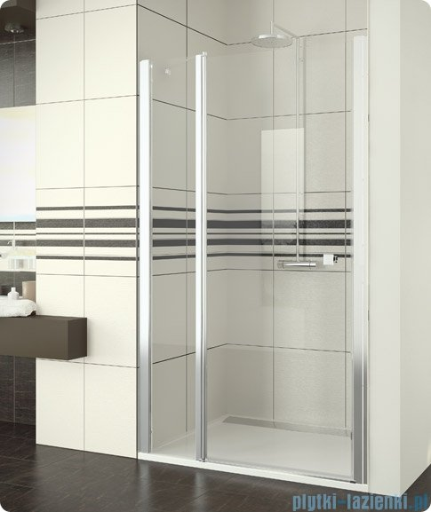 SanSwiss Swing Line SL13 Drzwi prysznicowe 140cm profil srebrny SL1314000107