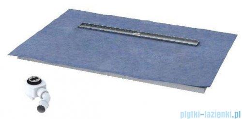 Schedpol brodzik 120x80x5cm posadzkowy podpłytkowy ruszt chrom 10.008/OLDB/CH