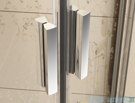 Ravak Blix BLDP2 drzwi prysznicowe 100cm białe transparent Anticalc 0PVA0100Z1