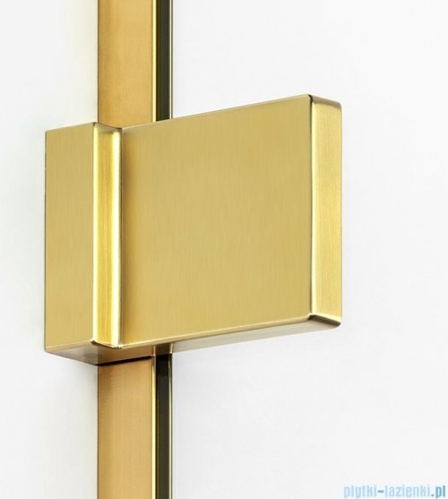 New Trendy Avexa Gold parawan nawannowy z wspornikiem skośnym 70x150 cm przejrzyste EXK-2006