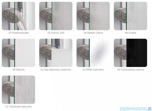 SanSwiss Top-Line TOPB2 Parawan nawannowy 2-częściowy 180cm profil srebrny TOPB218000107