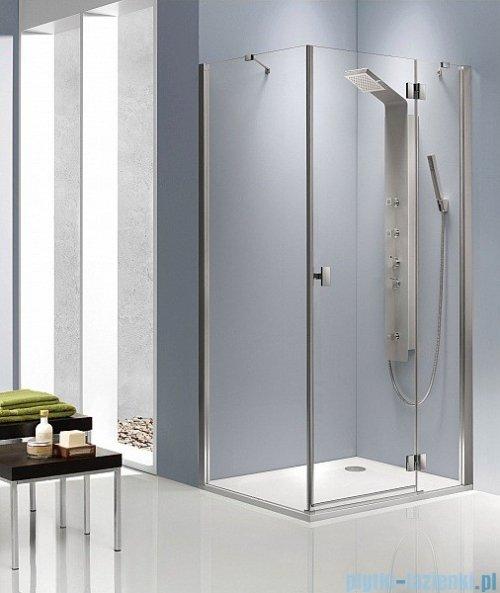 Radaway Kabina prysznicowa Essenza KDJ 120x80 prawa szkło brązowe + brodzik Doros D + syfon