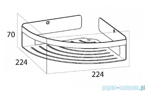 Tiger Caddy Narożny koszyk prysznicowy duży chrom 14006.3.03.46