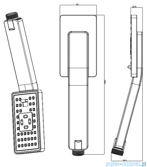 Omnires słuchawka prysznicowa 3-funkcyjna chrom JIMJIM-RCR