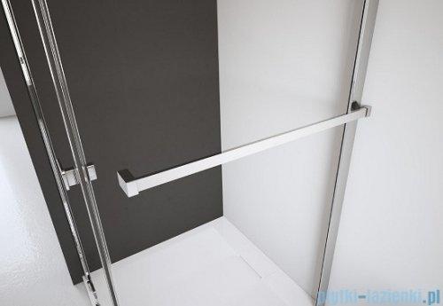 Radaway Kabina prysznicowa Almatea KDJ+S 80x120x80 prawa szkło przejrzyste + brodzik Doros D + syfon wieszak na ręcznik