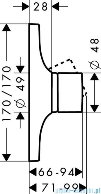 Hansgrohe Axor Jednouchwytowa bateria prysznicowa 18655000