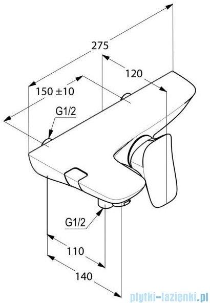 Kludi AMBIENTA jednouchwytowa bateria wannowo-natryskowa 534450575