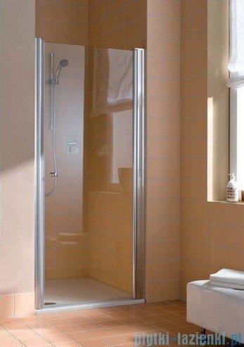 Kermi Atea Drzwi wahadłowe jednoskrzydłowe prawe, szkło przezroczyste, profile białe 80cm AT1WR080182AK