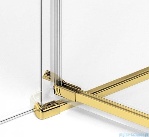 New Trendy Avexa Gold drzwi wnękowe 90x200 cm przejrzyste lewa EXK-1716