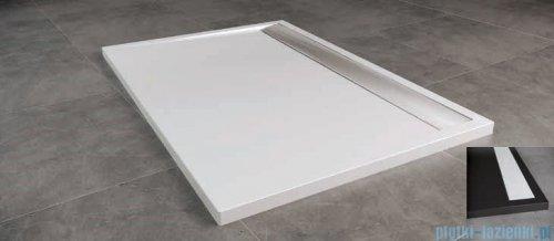 SanSwiss WIA Brodzik konglomeratowy prostokątny 90x140cm czarny/biały WIA9014004154