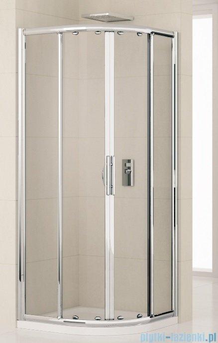 Novellini Kabiny prysznicowa półokrągła LUNES R 90x90 cm szkło przejrzyste profil srebrny LUNESR90-1B