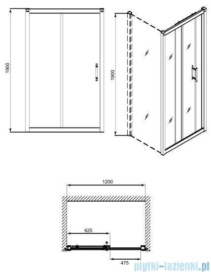 Koło Geo 6 drzwi rozsuwane 120 część 2/2 GDRS12222003B