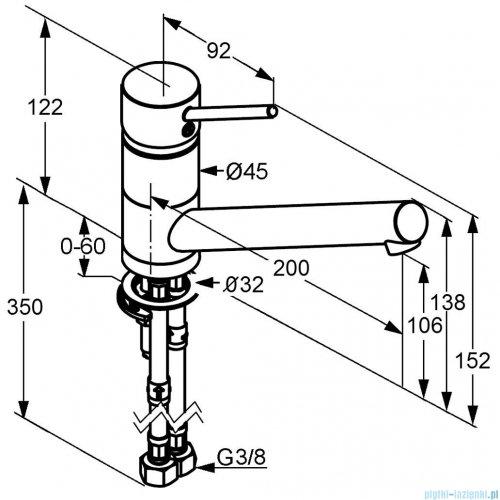 Kludi Scope Jednouchwytowa bateria kuchenna DN 10 chrom 339330575