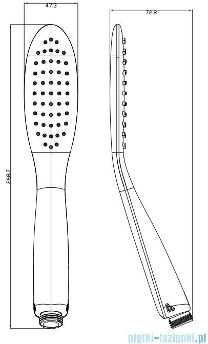 Omnires Siena-R rączka prysznicowa 1-funkcyjna chrom/biały SIENA-RCRB