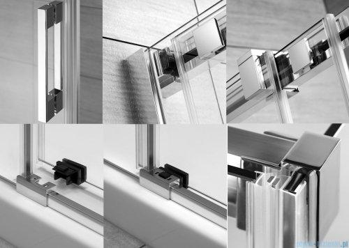 Radaway Espera KDJ Mirror kabina prysznicowa 140x80 prawa szkło przejrzyste 380695-01R/380234-71R/380148-01L