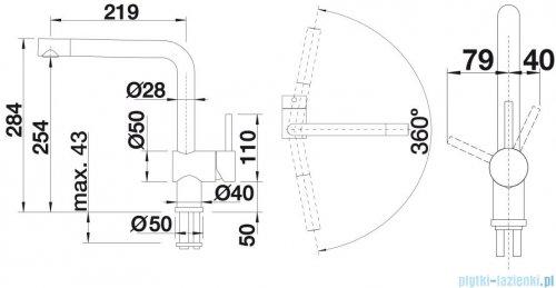 Blanco Linus-f  bateria wysokociśnieniowa kolor: stal  514026