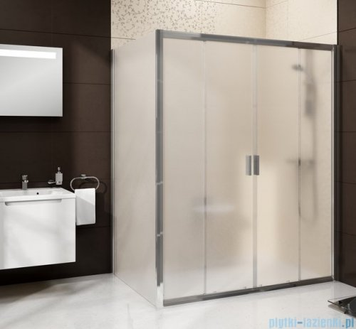 Ravak Blix BLDP4 drzwi prysznicowe 120cm białe grape Anticalc 0YVG0100ZG