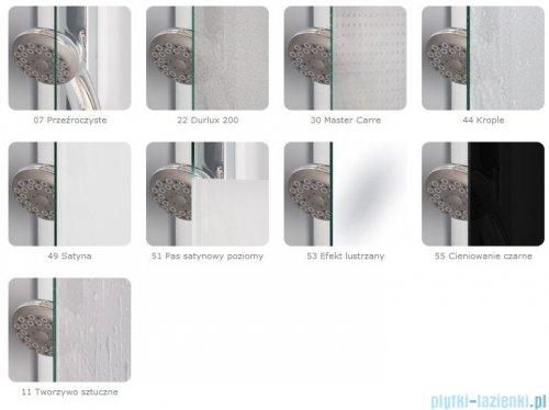 SanSwiss Top-Line Pięciokątna kabina prysznicowa TOP52 z drzwiami otwieranymi 90x90cm krople/srebrny mat TOP5270900144