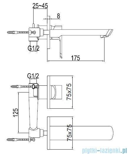 Kohlman Foxal podtynkowa bateria umywalkowa QW180F