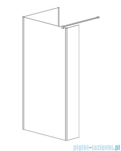 Radaway Modo New IV kabina Walk-in 120x90 szkło przejrzyste 389614-01-01/389094-01-01
