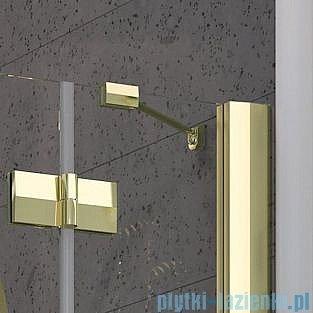 Radaway Almatea PDD GOLD kabina półokrągła 90x90 szkło brązowe 30502-09-08N