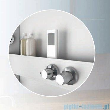 Novellini Glax 3 kabina prysznicowa z hydromasażem 100x70 prawa srebrny GL3A107DT1F-1B