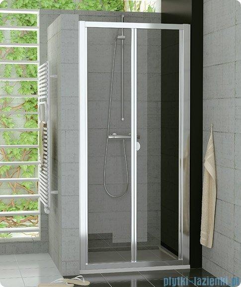 SanSwiss Top-Line Drzwi 2-częściowe 75cm profil biały TOPK07500407