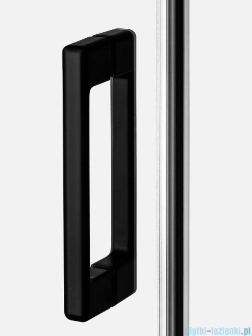 New Trendy Prime Black kabina prostokątna 80x90x200 cm przejrzyste D-0312A/D-0315A