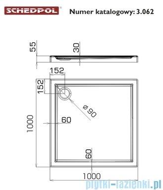 Schedpol Corrina Brodzik akrylowy kwadratowy 100x100x3/6cm 3.062