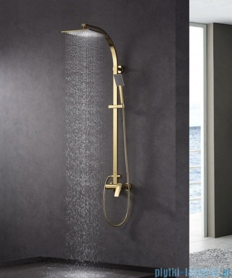 Blue Water Monaco zestaw kabinowo-prysznicowy natynkowy złoty MON-ZKPN.400ZP