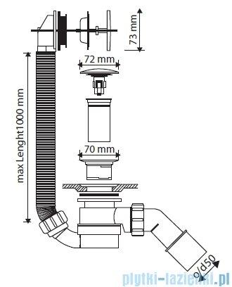 Marmorin syfon z przelewem Klik Klak SWK