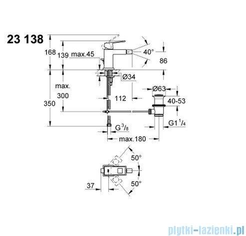 Grohe Eurocube jednouchwytowa bateria bidetowa DN 15 23138000